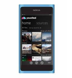 Der Client für Windows Phone 8 von Younited (Bild: F-Secure).