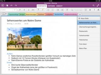 OneNote auf dem iPad (Bild: Microsoft)