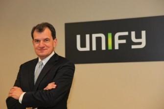 """Dean Douglas, seit Mitte Januar CEO von Unify, propagiert den """"New way to work"""" und das noch dieses Jahr verfügbare Project Ansible als das Werkzeug dafür (Bild: Unify)."""