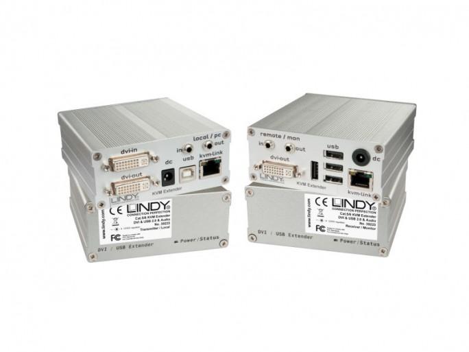 Lindy-KVM-Extender DVI-D und USB2