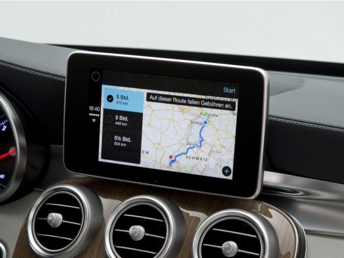 CarPlay in einem Modell der neuesten C-Klasse