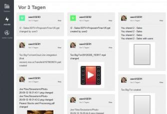Version 6 von owncloud bringt mit der Jive-Integration auch einen Activity Stream (Screenshot: ownCloud).
