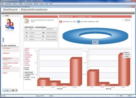 Die Inventarsoftware von Hoppe beherrscht die grafische Darstellung der inventarisierten Güter. (Screenshot: Hoppe Unternehmensberatung)
