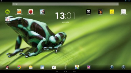 HP Slate 21 HomeScreen (Bild: Christian Lanzerath)