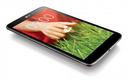 Das LG Android-Pad G Pad 8.3 beherrscht den Miracast-Standard für die drahtlose Übertragung von Videos an TV-Geräte oder Beamer. (Foto: LG)