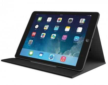 Mit Logitech Turnaround kann man das iPad im Hoch- oder im Querformat aufstellen. (Foto: Logitech)