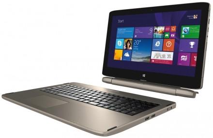 Mit dem variablen Verbindungselement Connect X ist der Medion-Rechner Akoya S6214T variabel einsetzbar: als Notebook, als Tablet oder als All-in-One-PC. (Foto: Medion)