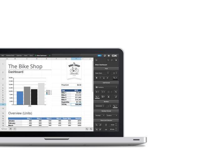 OX Spreadsheet ermöglicht das zusammenarbeiten an einem 'Excel'-Dokument auch über verschiedene Endgeräte hinweg. (Quelle: Open-Xchange)