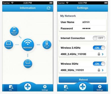 Die Screenshots zeigen die iOS-Version der App Tether, mit der man den Archer C2 über das Smartphone ansteuern kann. Die App ist auch für Android-Geräte erhältlich. (Screenshots: iTunes)
