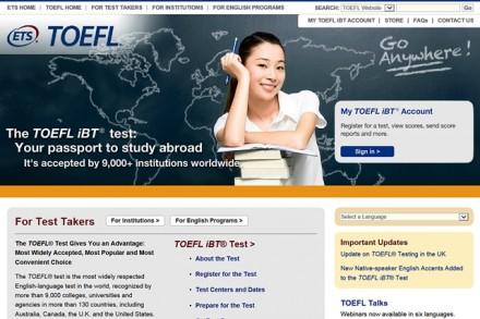 Der wohl bekannteste Englisch-Sprachtest ist der TOEFL.