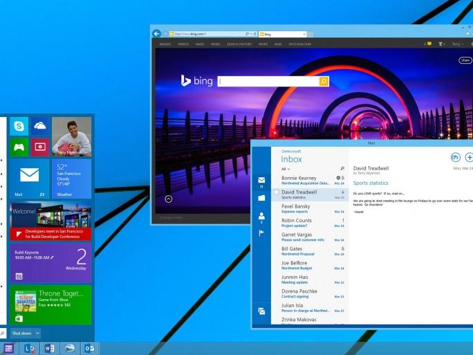 Startmenü für Windows 8.1 (Bild: Microsoft)