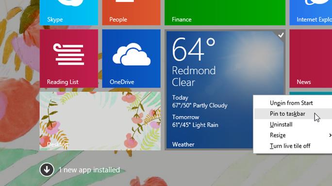 Update 1 für Windows 8.1 (Bild: Microsoft)
