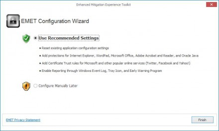 Windows XP Enhanced Mitigation Experience Toolkit (Screenshot: ZDNet.de)