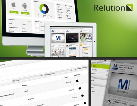 Relution von M-Way-Solutions ist eine Plattform, die Mobile Device Management und Enterprise App Store miteinander verbindet.