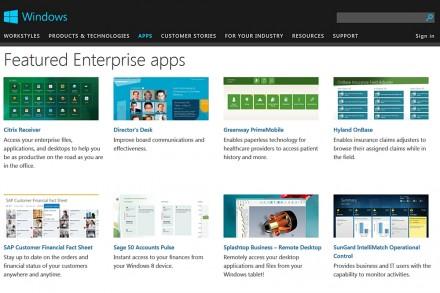 Microsoft hält ebenfalls eine MDM-Lösung und zahlreiche Business-Apps für Windows 8.1 bereit.