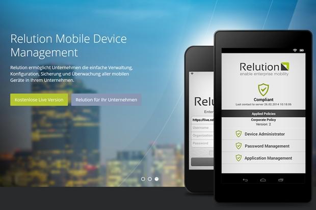 Mobile Device Management und App Store sind bei Relution verknüpft.