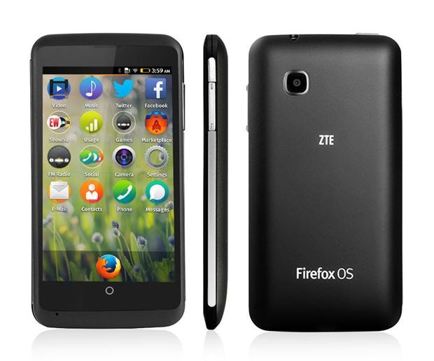 """Das Mobil-Betriebssystem Firefox OS gibt es auf den ZTE-Smartphones Open und Open C. Die Geräte sind für """"preisbewusste Einsteiger"""" gedacht. (Bild: ZTE)"""