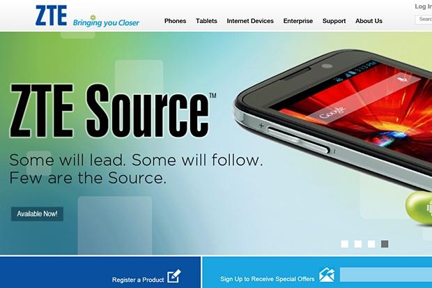 Selbstbewusster Auftritt: Die Homepage von ZTE für das US-amerikanische Publikum.