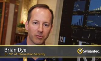 Symantec Manager Brian Dye rückt in einem Video bei Youtube ein Zitat im Wll Street journal von Anfang der Woche zurecht (Screenshot: ITespresso bei Youtube).