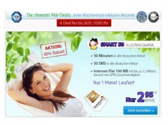 DeutschlandSIM startet Billig-Flatrate Smart 50 für Gelegenheitsnutzer