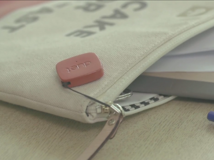Bluetooth-Anhänger Duet. (Screenshot: Video Duet:The Smart Bluetooth Tag That Watches Out For Your Phone)