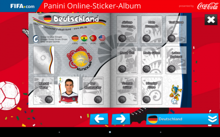 Das gute alte Panini-Album gibt es jetzt auch auf Smartphone und Tablet (Screenshot: ITespresso).