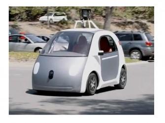 Googles Prototyp eines selbstlenkenden Autos kommt ohne Lenkrad und Pedale aus (Bild: Google).