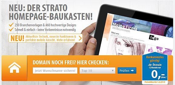 Strato-Homepage-Baukasten-Aktion