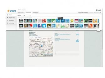 Strato Homepage-Baukasten Widgets