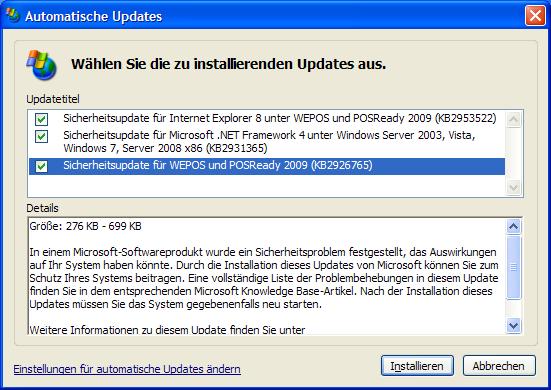 Windows XP: Ein simpler Registry-Trick hebt den Update-Stopp von Microsoft auf (Bild: ZDNet.de)