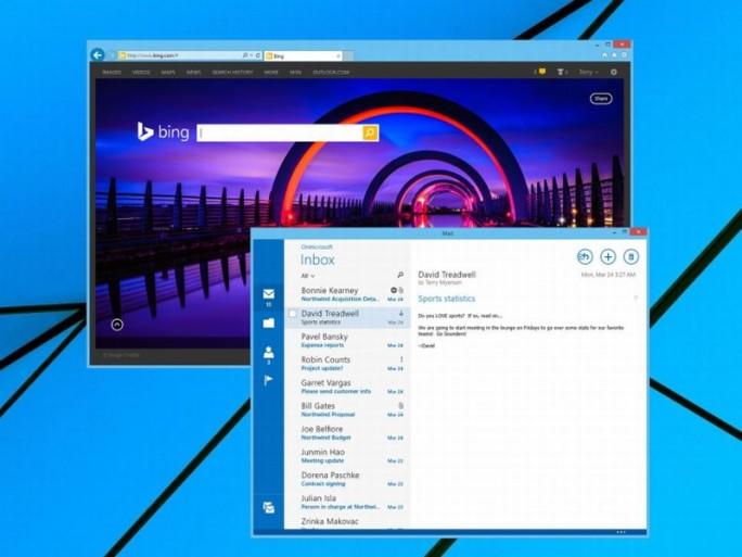 Windows 8.1 mit Bing (Bild: Microsoft)