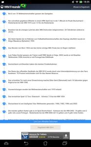 Die WM Freunde 2014 stellen auch interessante Fakten und Informationen über vergangene Weltmeisterschaften zur Verfügung (Bild: Klinnerds).