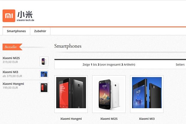Der Nächste bitte: Nach Huawei und ZTE schickt sich Xiaomi an, den deutschen Markt zu erobern. Die drei Smartphones sind aber derzeit aber noch nicht lieferbar.