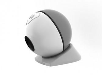 Die Archos Mini Cam ist nicht größer als ein Tischtennisball und eines der per Bluetooth gesteuerten Connected Objects (Bild: Archos).