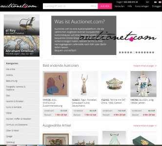Schwedische Auktionsplattform Auctionet kommt nach Deutschland (Screenshot: ITespresso)
