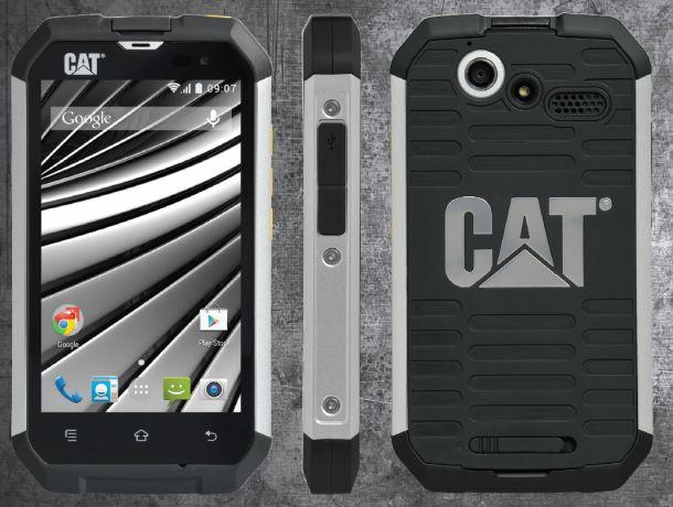 Das 170 Gramm schwere Cat BQ15 ist unter anderem mit einem Gehäuse aus silbereloxiertem Aluminium und schockabsorbierendem Gummi auf seinen Einsatz in unwirtlichem Umfeld vorbereitet (Bild: Cat Phones)