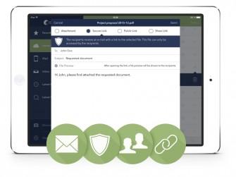 Cortado Corporate Server 7.2: Smart-Sharing erlaubt den sicheren Dateiaustausch zwischen internen und externen Mitarbeitern (Bild: Cortado)