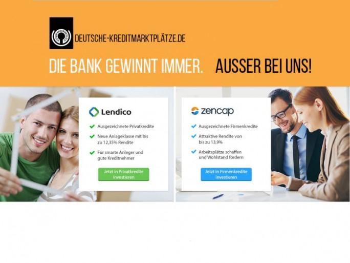 Deutsche Kreditmarktplätze (Screenshot: ITespresso).
