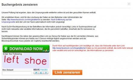 """Yasni beugte sich dem Urteil des EUGH unter Protest und führte Anfang Juni ein """"Direkt-Zensurfunktion"""" ein (Screenshot: ITespresso)."""