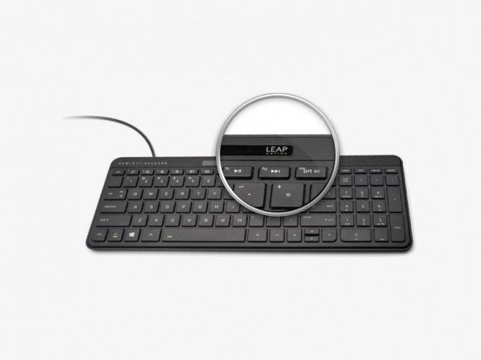 HP Leap Motion Tastatur (Bild: Hewlett-Packard)