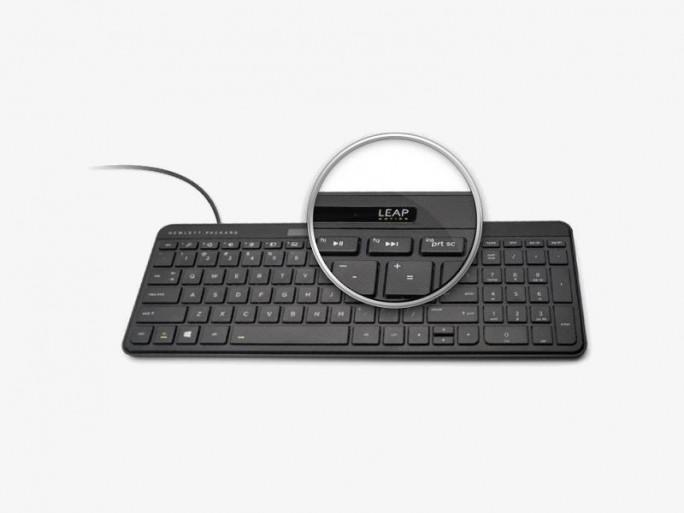 HP Leap Motion Tastatur (Bild: Hewlett-Packard)