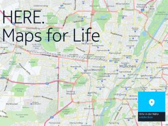 Straßentypen lassen sich durch die überarbeitete Farbgebung bei Here Maps deutlich einfacher unterscheiden.