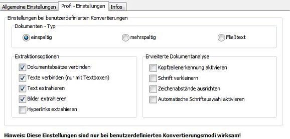PDF-2-Word-Profi-Einstellungen