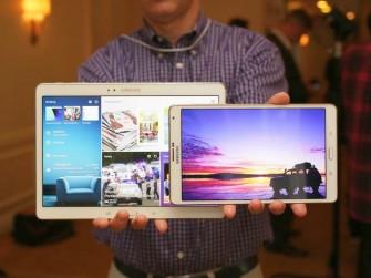 Das Galaxy Tab S wird ab Juli in Varianten mit 8,4 und 10,5 Zoll sowie mit lediglich WLAN oder LTE erhältlich sein (Bild: CNET.com)