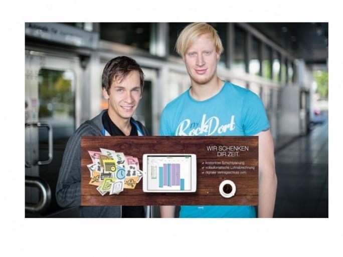 Die Gründer und ihr Projekt: Shyftplan soll die Zeitplanung in Schichtbetrieben vereinfachen (Bild: Pijajo).