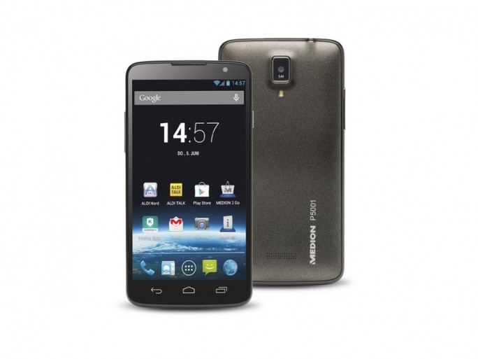 Smartphone Medion Life P5001 (MD 98664) (Bild: Medion)
