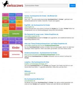 Mit einem Klick auf die Kachel 'Kinder' erhält man dann verfeinerte Suchergebnisse zu Suchmaschinen für Kinder (Screenshots: ITespresso).