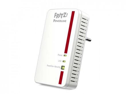 Fritz Powerline 1000E schafft einen Datendurchsatz von bis zu 1 GBit/s über die Stromleitung (Bild: AVM).