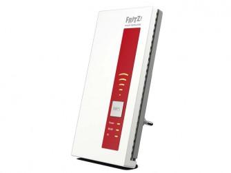 Mit dem Fritz WLAN Repeater DVB-C lässt sich Kabelfernsehen per WLAN im Heimnetz auf Mobilgeräte, Notebooks und  PCs verteilen (Bild: AVM).