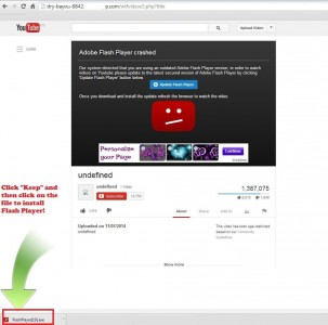 Ein leider vielen Nutzern nur allzu vertrautes Bild - das aber hier eine Fälschung ist und zum Download einer Malware verleiten soll (Screenshot: Bitdefender).